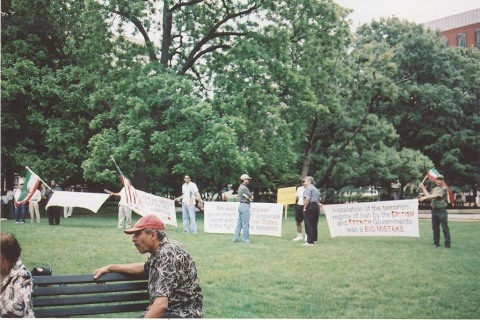 G. Nikbin in Lafayette Park, Washington, D.C., May 15, 2005